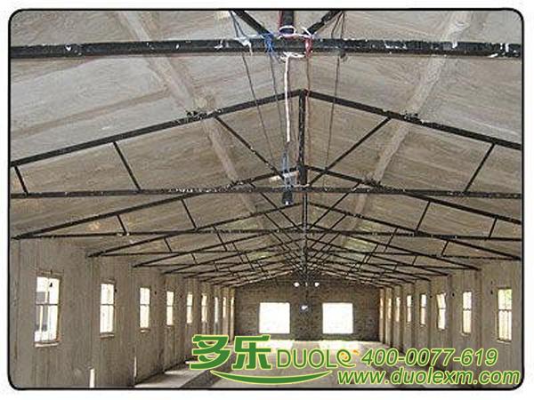 钢结构房顶框架设计图展示